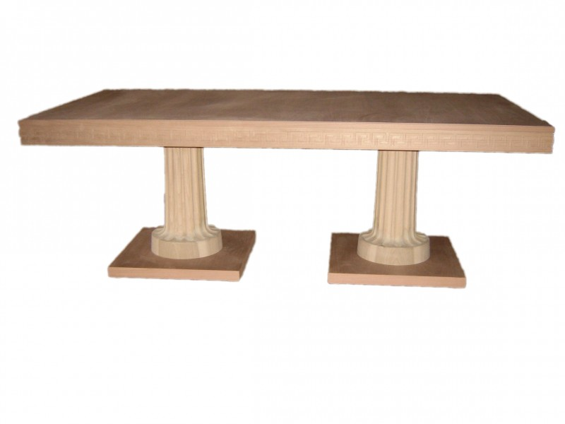 Ancient Greek Dining Table With Two Columns