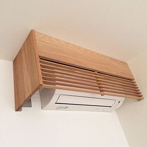 Air Condition Wooden Cover