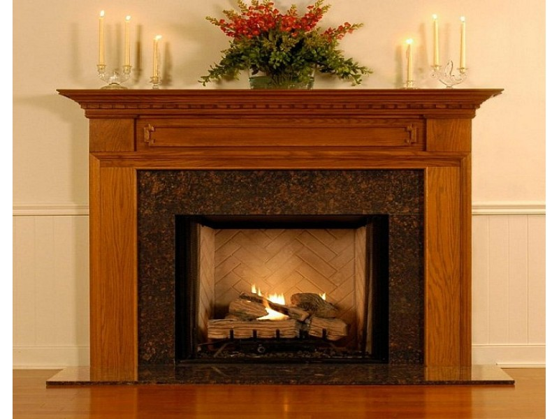 Wooden Fireplace Mantel No9